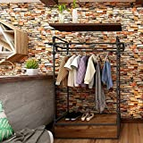 Uhitmi 17.7 x 393 Inch 3D Brick Wallpaper Peel and Stick, Self Adhesive Removable Wallpaper Vintage Stone Contact Paper for Countertops Waterproof
