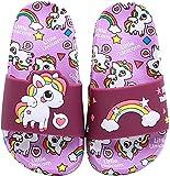 HausFine Ciabatte da Doccia Scarpe da Spiaggia e Piscina Unicorno Bambini Pantofole da Bagno Ragazzi e Ragazze Pantofole da Interno E da Esterno Sandali Unicorno (Unicorno B Viola, numeric_36)