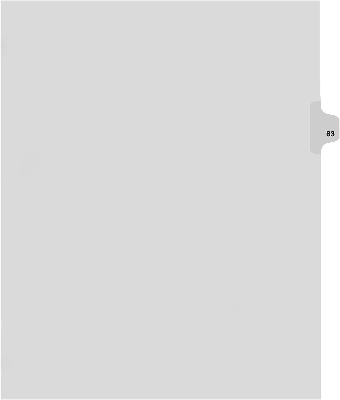 Kleer-Fax-Teiler Inc. KLF82283 Index-Nummer 83 - Side Cut Tab-.505-Letter-25-ST-WE