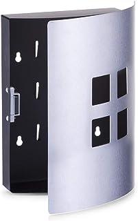 Zeller 13848 4 carrés armoire à clés acier inoxydable, 22 x 6 x 24 cm