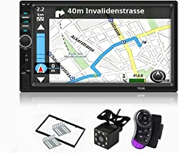 Carthree Double Din Car Stereo 7Inch Car Radio Touch Screen with GPS Navigation Video Player Hands-Free Backup Camera High Sensitive Radio Bluetooth Car Stereo