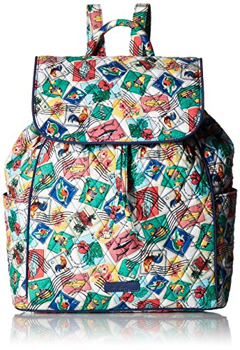 Vera Bradley Women's Signature Cotton Drawstring Backpack, Cuban Stamps