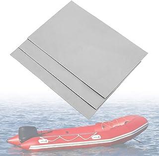 Yosoo Health Gear Kit de reparación de Botes inflables de PVC, 3 Piezas Juego de Parches de reparación Impermeables de PVC Parches de reparación de Botes inflables para Botes inflables