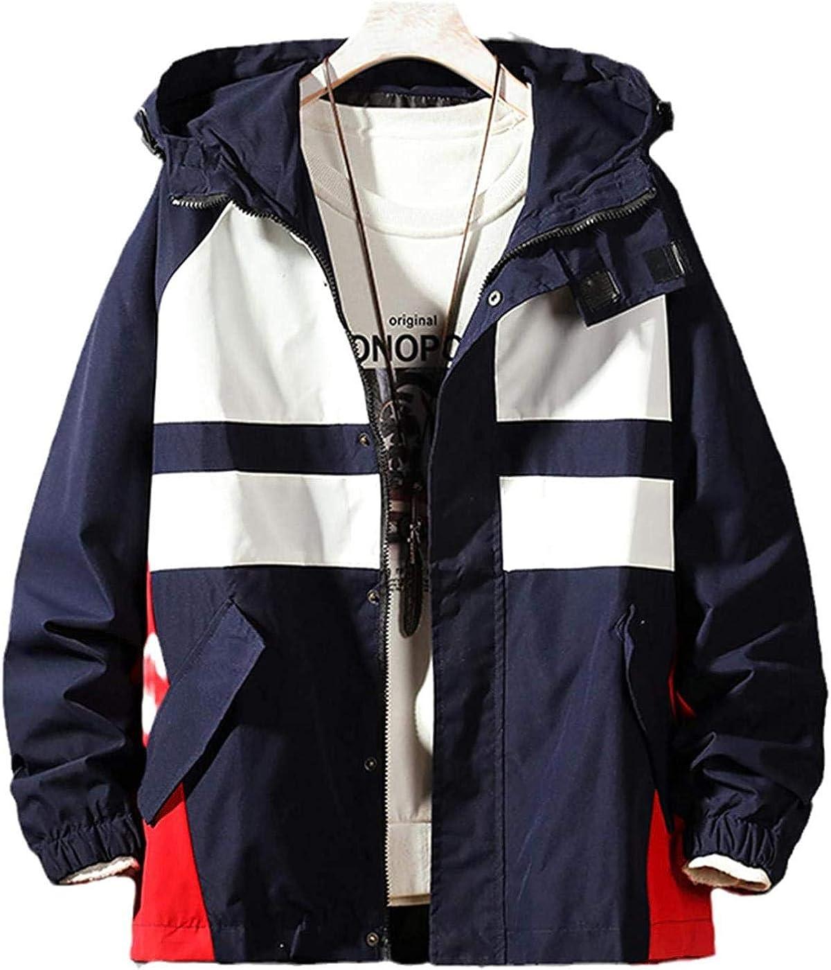 Autumn Hip Hop Hooded Patchwork Mens Jacket Coat Male Hoodies Coats Men Streetwear Bomber Jacket Men