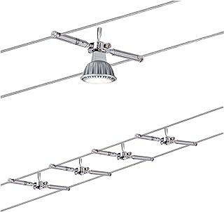 Paulmann 941.46 Togo Système d'éclairage à spots sur câble - Kit d'éclairage à fil de tension avec 4 spots suspendus, câbl...