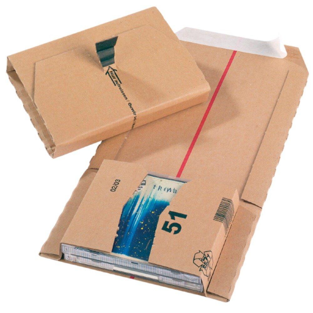 Jiffy - Cartón para embalar (CD), tamaño 51, 147 x 126 x 55 mm (paquete de 20 unidades): Amazon.es: Oficina y papelería