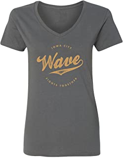 Iowa Wave - City Fights Together Womens Vneck T-Shirt