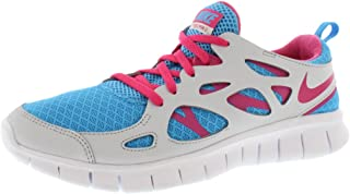 Nike Free Run 2 Running Shoes Youth Size 7y (Womens 8) Blue/Pink/Grey/White