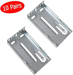 KINGO HOME 10 Pairs Hardware Rear Mounting Brackets for Drawer Slides, Cabinet Drawer Bracket for Face Frame Cabinets