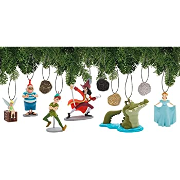 Unique Shatterproof Plastic Design Ornament Peter PAN Christmas Tree Set Featuring Peter Pan and Friends