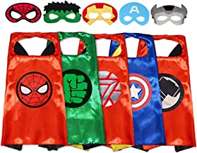 GREAMBABY Superhero Capes with Masks Dress up Costumes Halloween Christmas Cosplay Festival Birthday Party Favors for Kids