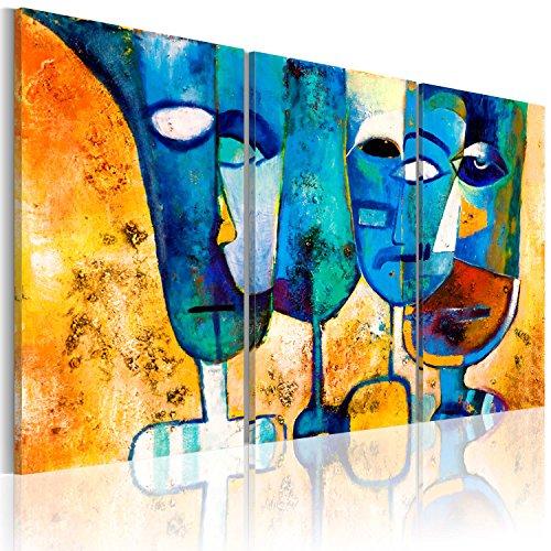murando Tableau 100% Peint à la Main Acrylique Peinture sur Toile Murale Design Art Moderne Motifs Uniques Décoration 3 Parties Abstraction 41503 135x90 cm