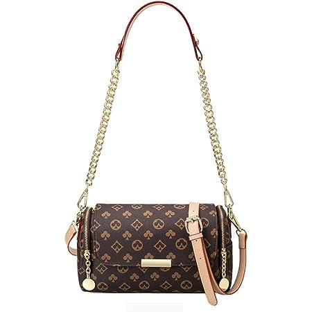 Aiovemc Umhängetaschen Damen Messenger Bags Damen Handtaschen PU Leder Umhängetaschen Damen Kleine Retro Druck Damenmode Handtaschen(27 * 17 * 13cm)