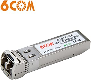6COM 10 Gigabit SFP+ Transceiver, 10GBase-SR LC Multi-Mode Module for AXM761 (DDM, 850nm, 300m)