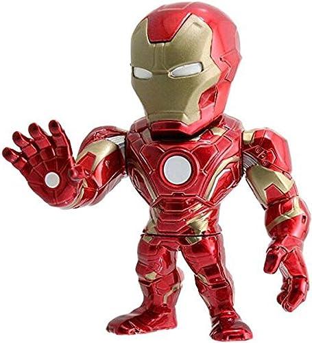 JTWMY Modèle de poupée Modèle - Captain America  Boutique de Figurine 4 po (Rouge Or) Iron Man Iron Man