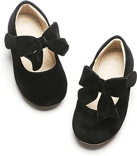کفش های تخت دخترانه Kiderence Flat Mary Jane Ship-on School Party Ballerina (کودک نوپا / بچه های کوچک)