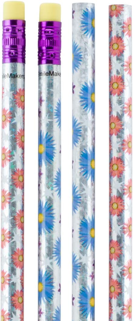 Flower Sparkle Pencils - New product pack per 50 OFFer