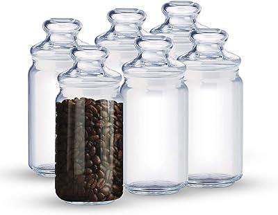 Ocean Pop Jar Set, 750ml, Set of 6, Clear