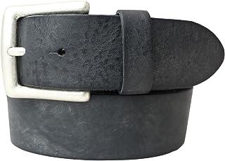 Gürtel aus weichem Vollrindleder Used-Look 4 cm   Jeans-Gürtel für Damen Herren 40mm   Ledergürtel Vintage-Look