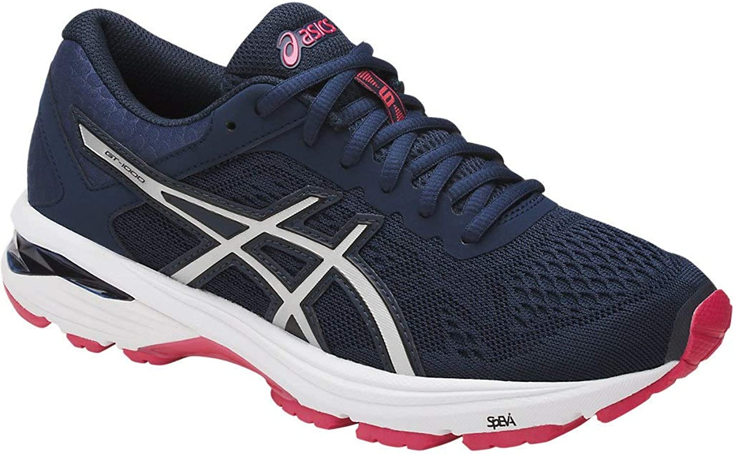 c43073972 ASICS Women's GT-1000 6 6 6 Running shoes, 7.5M, Insignia bluee Silver red  Red 6971e6