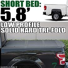 Topline Autopart Low Profile Tri Fold Hard Plastic Truck...