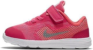 Nike Kids' Revolution 3 (TDV) Running Shoe Racer Pink/White/Lava Glow 7 M US Toddler