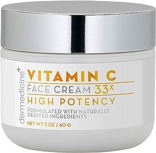 Sponsored Ad - Natural Vitamin C High Potency Face Cream 33x High Potency w/Squalane & Antioxidants   Professional Grade Q...