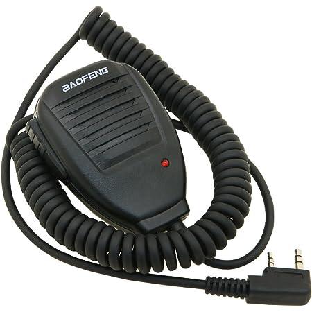 Baofeng UV-5R Speaker - Micrófono para Walkie Talkie Baofeng UV-5R, color negro