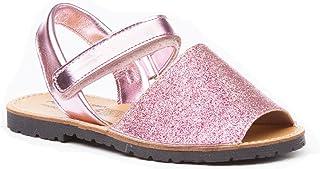 comprar comparacion ANGELITOS Sandalias Menorquinas para Niñas EN Glitter y Piel Mod. 208. Calzado Infantil Made in Spain, Garantia de Calidad.
