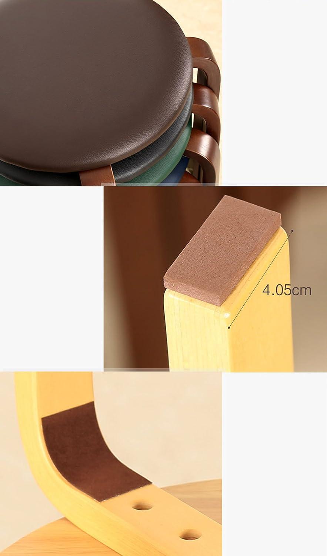 Banc rond à quatre pattes, table et chaises rembourrées en bois muet, pour la salle à manger de la chambre à coucher, multicolore en option (Color : F) D