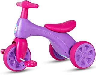 Costzon Toddler Tricycle Walker Baby Balance Tricycle with Foot Pedals, BB Sound and Storage Box, Baby Tricycle Bike for Kids Baby Infant Age 18 to 36 Months Indoor Outdoor (Purple)