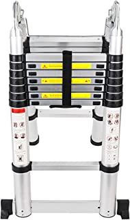 Senrob Aluminum Telescopic Extension Ladder,16.5 ft ExtendableFolding Multi-Purpose Ladder Max 330 lbs. Capacity