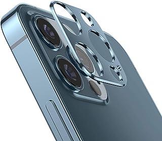 غطاء واقٍ بحلقات لعدسات كاميرا هاتف ابل ايفون 12 برو ماكس، [عبوة من قطعتين]، مصنوع من مادة معدنية عالية الجودة [مضاد للسقو...