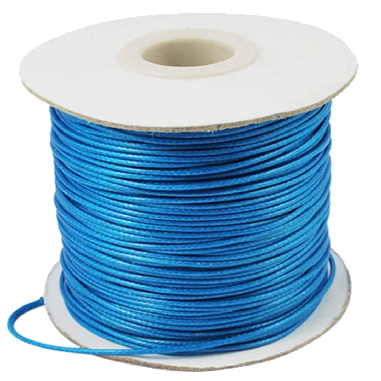 PH PandaHall 1 Roll 88 Yards 1mm Waxed Polyester Cord Korean Waxed Cord Beading String Craft Bead Cord for Jewellery Bracelets Craft Making (Deep SkyBlue)