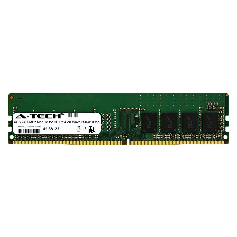A-Tech 4GB Module for HP Pavilion Wave 600-a100no Desktop & Workstation Motherboard Compatible DDR4 2400Mhz Memory Ram (ATMS312439A25815X1)