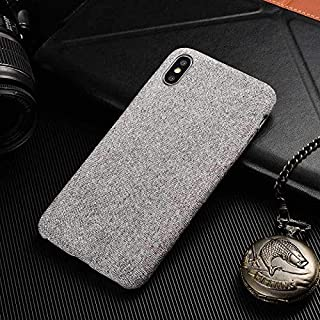 Maxlight Candy Colors Cotton Fabric Cloth Cases for iPhone 7 8 Plus Soft Slim Canvas Back Cover for iPhone Xs Max Leather Phone Case (B, for iPhone Xs Max)
