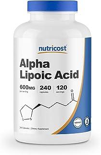 Nutricost Alpha Lipoic Acid 600mg Per Serving, 240 Capsules - Gluten Free, Soy Free & Non-GMO