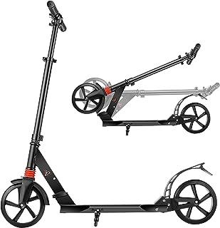 YUEBO Kick Scooter Pliable et Guidon Réglable en Hauteur Trotinette Freestyle pour Enfant et Adulte
