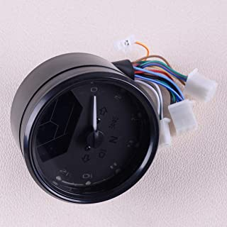 Universal Black Motorcycle Chopper Cafe Racer Lcd Signal Speedometer Tachometer Gauge Alarm Accessory 12000Rpm For 2 4 Cylinders