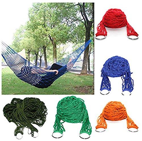 Camping de couchage en nylon Maille à suspendre Hamac (couleur aléatoire)