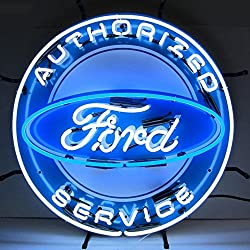 Neonetics 5FRDBK Authorized Ford Service Neon Sign with Backing