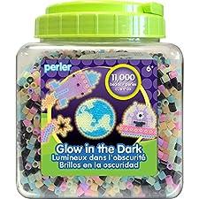Spider and Spiderweb Perler Bead Pattern - Glow in the Dark!