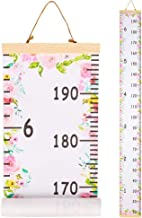 QtGirl Kids Growth Chart, Height Chart for Child Height Measurement Wall Hanging Rulers Room Decoration for Girls, Boys, Toddlers