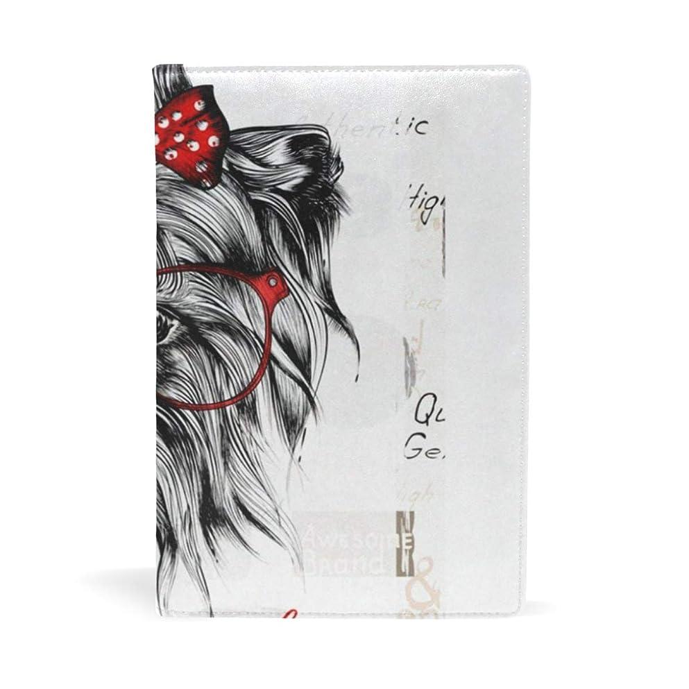 トリクルまばたき絡み合いブックカバー 文庫 a5 皮革 レザー かわいい 犬 イヌ 文庫本カバー ファイル 資料 収納入れ オフィス用品 読書 雑貨 プレゼント