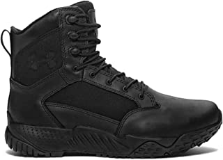 Under Armour Men's Stellar Tac - Wide (2E) Military and Tactical Boot, Black/Black/Black, 2E US