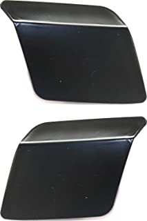 Headlight Washer Cover Set of 2 Compatible with BMW X5 2014-2018 Right Side and Left Side Primed