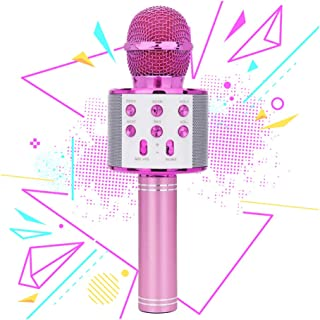 LITTLEFUN Wireless Bluetooth Karaoke Microphone Home Party Gift for Kids- Great Gift