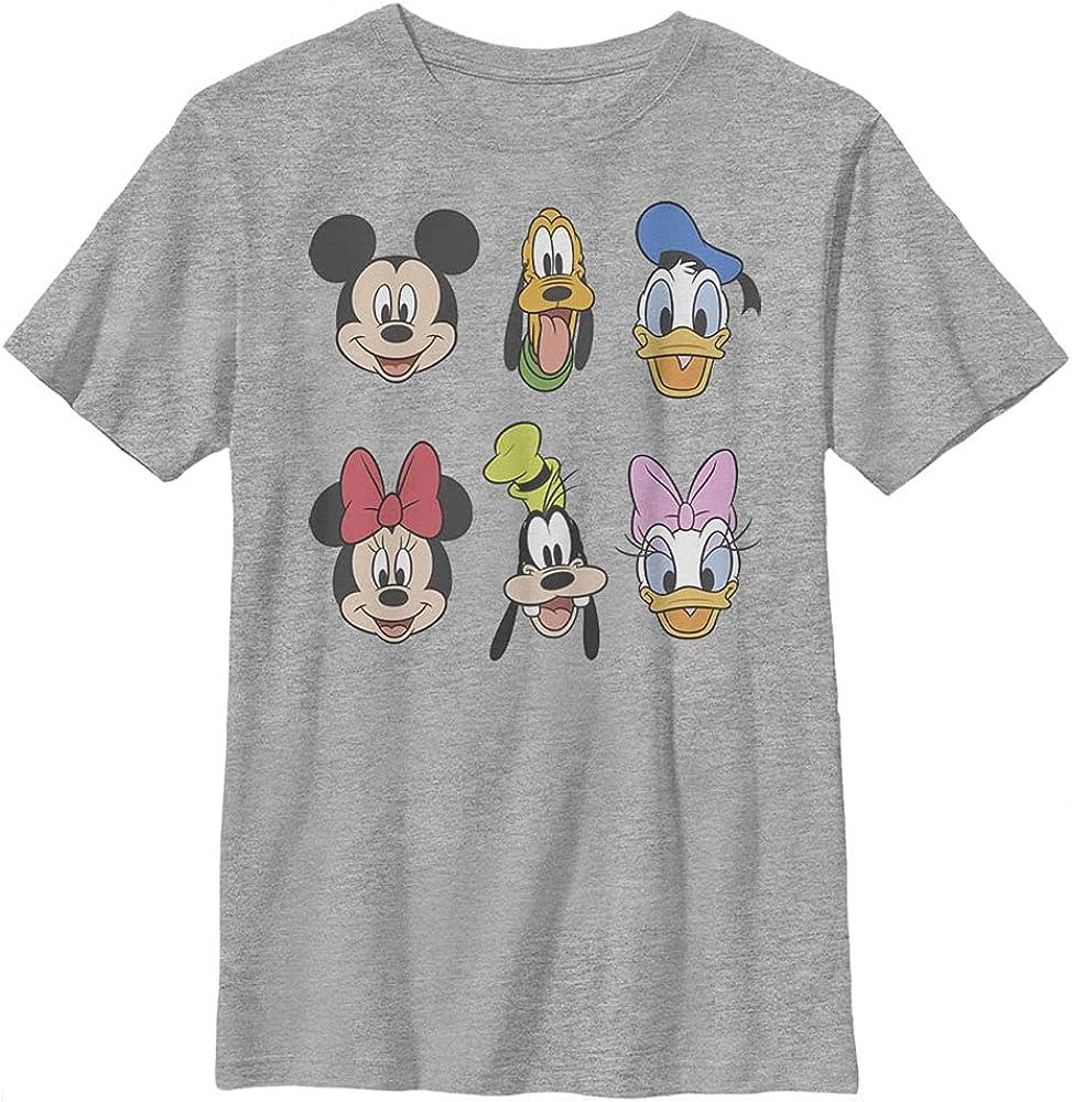 Disney Characters Always Trending Stack Boy's Heather Crew Tee