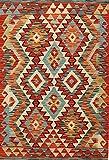 Mollaian Rug Kilim Kaudani Melange - Alfombra de pasillo (124 x 85 cm)