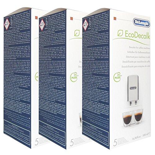 DELONGHI Lot de 3 Détartrants écologique SER3018 pour machine à café 500ml